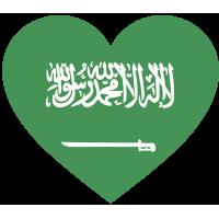 Сердце. Флаг Саудовской Аравии в форме сердца