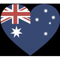 Сердце Флаг Австралии (Австралийский Флаг в форме сердца)