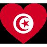 Сердце Флаг Туниса (Тунисский Флаг в форме сердца)