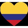 Сердце Флаг Колумбии (Колумбийский Флаг в форме сердца)