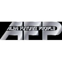 Серебряный логотип AFP Alfa Future People - фестиваль электронной музыки и технологий
