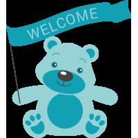 Плюшевый медведь Welcome