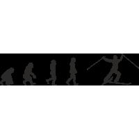 Эволюция от обезьяны до Лыжника 2