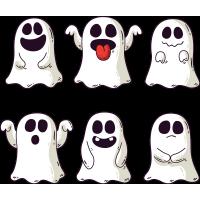 Набор наклеек Привидения На Хэллоуин