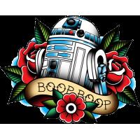 Р2Д2 из Звёздных Войн Тату Стиль R2D2 Star Wars Tattoo Style