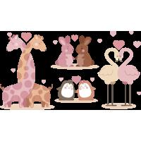 Набор Влюбленные Животные На День Святого Валентина 14 Февраля