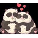 Влюбленная Парочка Панды На День Святого Валентина 14 Февраля