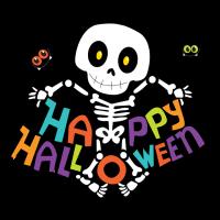 Скелет с надписью Хэллоуин